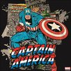Graham & Brown Marvel Captain America Vintage Advertisement on Canvas