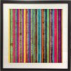 Graham & Brown Gerahmte Grafikkunst Neon Stripe
