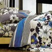 LJ Home Rosewood Reversible 3 Piece Duvet Cover Set