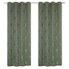 LJ Home Tania Floral Grommet Curtain Panels (Set of 2)