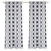 LJ Home Zen Hourglass Faux Silk Grommet Curtain Panel (Set of 2)