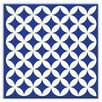 "Oscar & Izzy Folksy Love 4-1/4"" x 4-1/4"" Glossy Decorative Tile in Needle Point Blue"