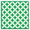 "Oscar & Izzy Folksy Love 6"" x 6"" Satin Decorative Tile in Needle Point Green"