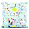 Chloe & Olive Kid Doodles Reversible Cotton Throw Pillow
