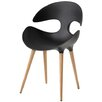 Redi Kat Dining Chair with Natural Wood Legs by Karim Rashid