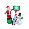 BZB Goods Santa, Penguin and Snowman Christmas Decoration