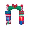 BZB Goods Christmas Inflatable Gift Boxes Arch with Bow Tie