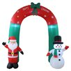 BZB Goods Christmas Inflatable Santa Claus and Snowman Arch Yard Decoration