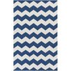 Artistic Weavers Vogue Navy Chevron Collins Area Rug