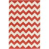 Artistic Weavers Transit Orange / Ivory Chevron Penelope Area Rug