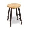 WB Manufacturing Adjustable Height Round Hardwood Seat 4 Leg Stool