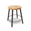 WB Manufacturing Round Hardwood Seat 4 Leg Stool