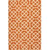 Jaipur Rugs Barcelona Orange & Ivory Geometric Indoor/Outdoor Area Rug