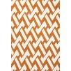 Jaipur Rugs Barcelona Orange/Ivory Geometric Indoor/Outdoor Area Rug