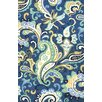 Jaipur Rugs Barcelona Blue/Ivory Floral Indoor/Outdoor Area Rug
