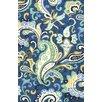 Jaipur Rugs Barcelona Blue/Ivory Floral Indoor/Outdoor Area Rug