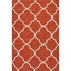 Jaipur Rugs Barcelona Red/Ivory Geometric Indoor/Outdoor Area Rug