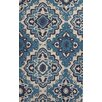 Jaipur Rugs Catalina Blue / Ivory Moroccan  Indoor / Outdoor Area Rug