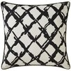 Jaipur Living Cosmic By Nikki Chu Barbwire Pattern Linen Throw Pillow
