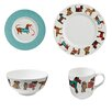 Ulster Weavers Hound Dog 24 Piece Dinnerware Set
