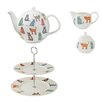 Ulster Weavers Catwalk 4 Piece Ceramic Tea Set