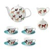 Ulster Weavers Hound Dog 7 Piece Bone China Tea Set