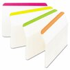 3M Durable tabs, 2w x 1 1/2h, assorted fluorescent, 24/pack (Set of 2)