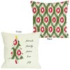One Bella Casa Friends Family Peace Ikat Christmas Tree Reversible Throw Pillow