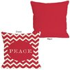 One Bella Casa Peace Chevron Stripe Throw Pillow