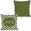 One Bella Casa Holiday Joy Chevron Stripe Throw Pillow