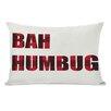 One Bella Casa Holiday Bah Humbug Plaid Lumbar Pillow