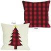 One Bella Casa Plaid Christmas Tree Throw Pillow