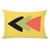 One Bella Casa Tatyana Aztec Horizontal Triangle Lumbar Pillow