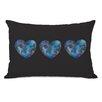 One Bella Casa Triple Cosmic Heart Lumbar Pillow