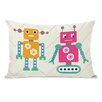 One Bella Casa Robots and Chevrons Lumbar Pillow