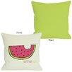 One Bella Casa Summer Yum Watermelon Throw Pillow