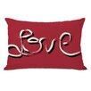 One Bella Casa Hand Painted Love Lumbar Pillow