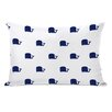 One Bella Casa All Over Whale Stripes Reversible Lumbar Pillow