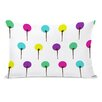 One Bella Casa Colorful Trees Lumbar Pillow