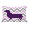 One Bella Casa Dachshund Girl Lumbar Pillow