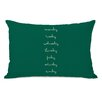 One Bella Casa Days of The Week Lumbar Pillow