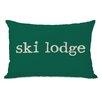 One Bella Casa Ski Lodge Lumbar Pillow