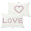 One Bella Casa Love Mini Flowers Reversible Lumbar Pillow