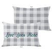 One Bella Casa Love Lives Here Lumbar Pillow