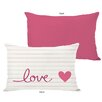 One Bella Casa Love on a Line Lumbar Pillow