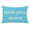 One Bella Casa Love You Lots/Love You More Reversible Lumbar Pillow