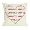 One Bella Casa XOXO Heart Throw Pillow