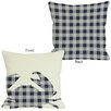 One Bella Casa Plaid Crab Throw Pillow