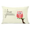 One Bella Casa I Love You Owl Lumbar Pillow
