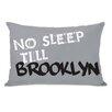 One Bella Casa No Sleep Till Brooklyn Lumbar Pillow